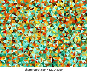 Colorful Seamless Triangle Abstract Background. Vector Pattern of Colored Geometric Shapes