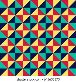 Colorful seamless triangle pattern design. Vector illustration