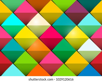 Colorful Seamless Vector Background with Colorful Tiles