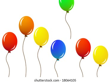 Colorful set of balloons vector