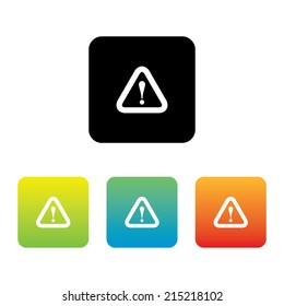 Colorful Set of Caution Icons