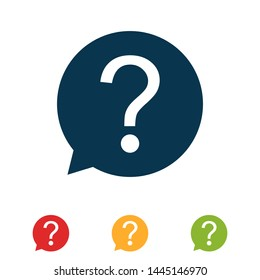 colorful set question sign icon vector illustration