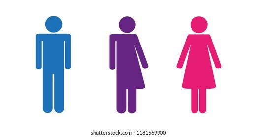 colorful set of restroom icons including gender neutral icon pictogram vector illustration EPS10
