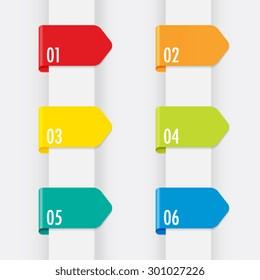 Colorful Set of Ribbon Dividers