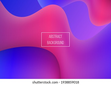 Colorful shapes liquid abstract background. Vector Illustration