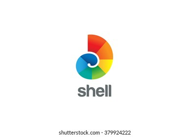 Colorful Shell Logo abstract design vector template