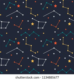 Colorful Shining Stars Pattern Background Vector Image