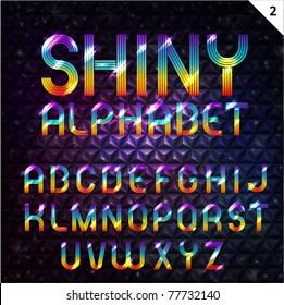 Colorful Shiny Alphabet