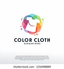 Colorful Shirt logo vector, Cloth Fashion logo designs template, design concept, logo, logotype element for template