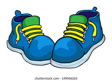 colorful shoes, vector illustration