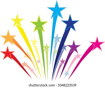 Colorful Shooting Stars Logo