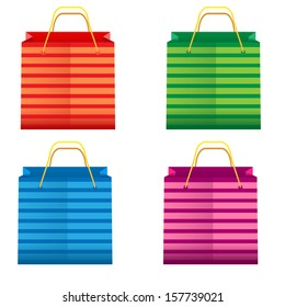colorful shopping bags illustration