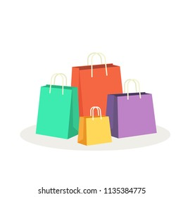 Colorful shopping bags vector illustration
