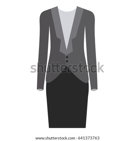 0182c2733c Colorful Silhouette Female Formal Suit Clothes Stock Vector (Royalty ...