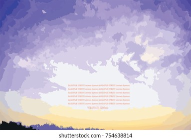 Colorful sky over moutain abstract background,EPS10
