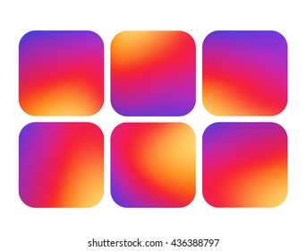 Colorful smooth gradient color background icon. Vector illustration.