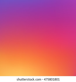 Colorful smooth gradient color Background Wallpaper. Inspired by instagram new logo 2016. Vector illustration color Background design for your instagram new icon project design