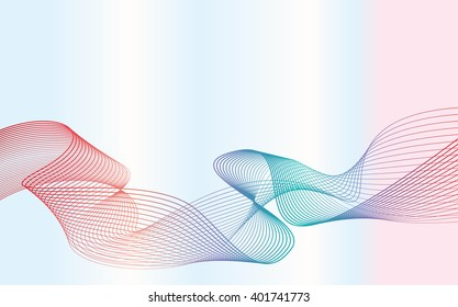 colorful smooth wavy lines, wave backround for presentation fashion or business