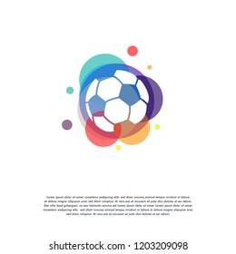 Colorful Soccer Ball logo vector, Simple Ball logo designs template, design concept, logo, logotype element for template
