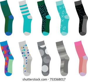 Colorful socks. vector illustration