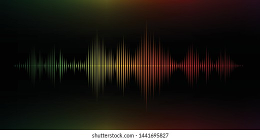Colorful sound wave. Vector illustration.