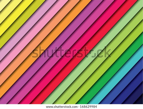 Colorful spectrum stairs, vector