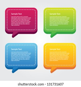 Colorful Speech Boxes