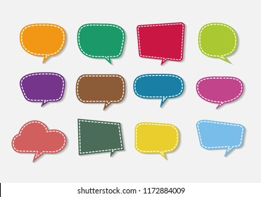 colorful speech bubble cut paper design template. Vector illustration for your business presentation.
