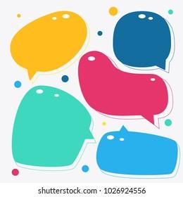 Colorful speech bubbles vector illustration