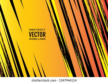 Colorful speed lines background with effect explosion and space for text. Effect motion lines for comic book and manga. Template for design. Vector