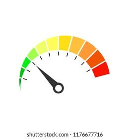Colorful speedometer icon. Vector illustration.