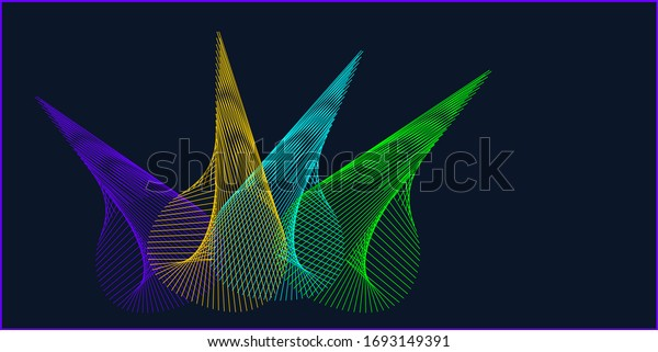 A colorful spiral spatial abstract vector image for background .