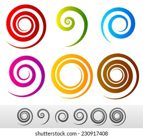 Colorful spirals