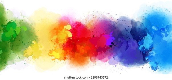 colorful splash background rainbow style