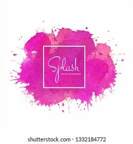 Colorful splash soft watercolor design