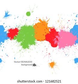 Colorful splashes seamless background