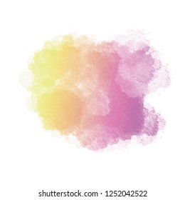 Colorful spot, watercolor abstract hand painted background