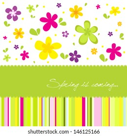 Colorful spring background with a lot of flower