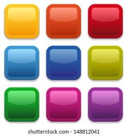 Colorful square button collection