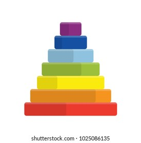 colorful square pyramid toy.