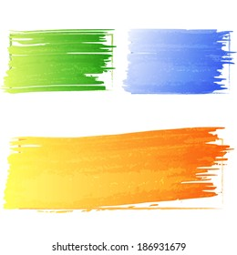 Colorful stains of brush strokes. Vector illustration.