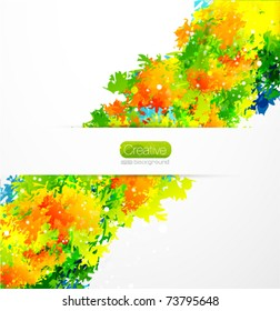 Colorful stains vector background