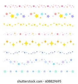 colorful star borders / vector eps10 illustration