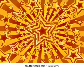 Colorful Star Explosion