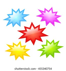 Colorful star icon vector illustration isolated on white background