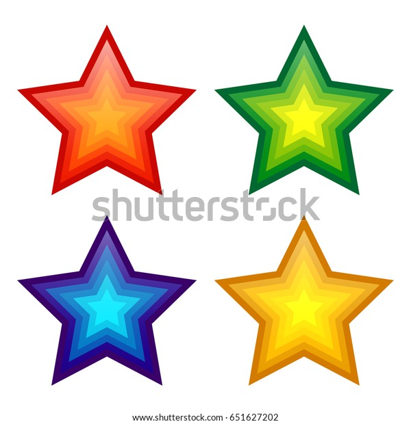 colorful star isolated in white background