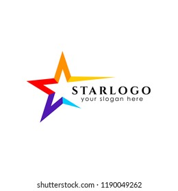 colorful star logo design stock template. star vector icon