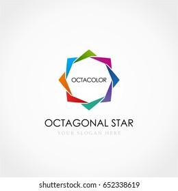 Colorful Star Octagonal Logo