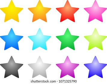 Colorful star set