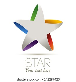 Colorful star, vector illustration